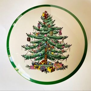 SPODE CHRISTMAS TREE Candy Dish With Lid